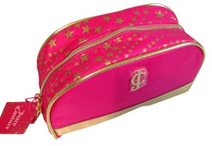 Juicy Couture Pink gold star Cosmetic makeup bag by juicy couture fragrance