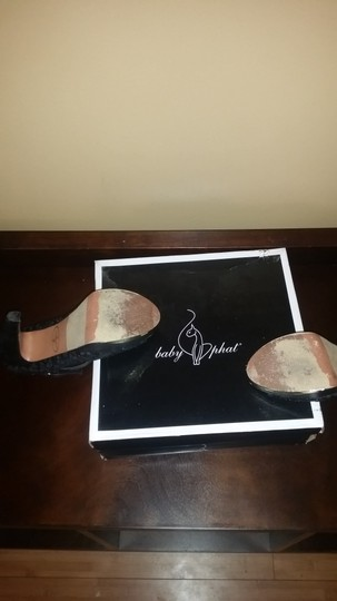 Baby Phat Black/ Gold Sandals