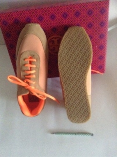 Tory Burch Orange And Beige Athletic