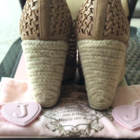 Juicy Couture Natural Suede Wedges