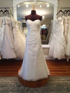 Jenny Yoo Ivory Spider Tulle with Sequins Taylor Wedding Dress Size 8 (M)