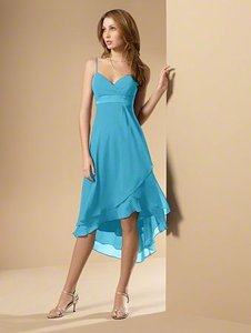 Alfred Angelo Blue Box 6471 Destination Bridesmaid/Mob Dress Size 14 (L)