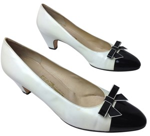 Salvatore Ferragamo White Pumps