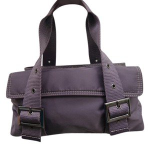Un Apres-Midi de Chien Nylon Handbag Satchel in Dusky Purple