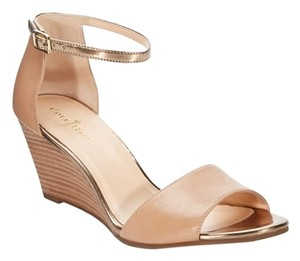 Cole Haan Summer Sandal Leather Sandal Dressy Sandstone Wedges