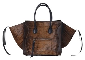 Céline Shaded Ponyhair Tote in Brown and Black