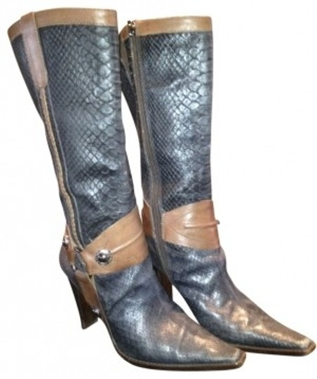 SCHUTZ Blue and whiskey Boots