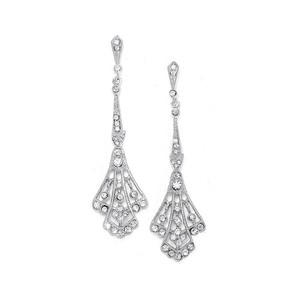 Mariell Cubic Zirconia Vintage Bridal Earrings E057