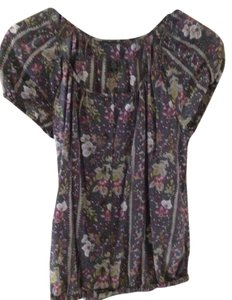 Banana Republic Top Grey flower
