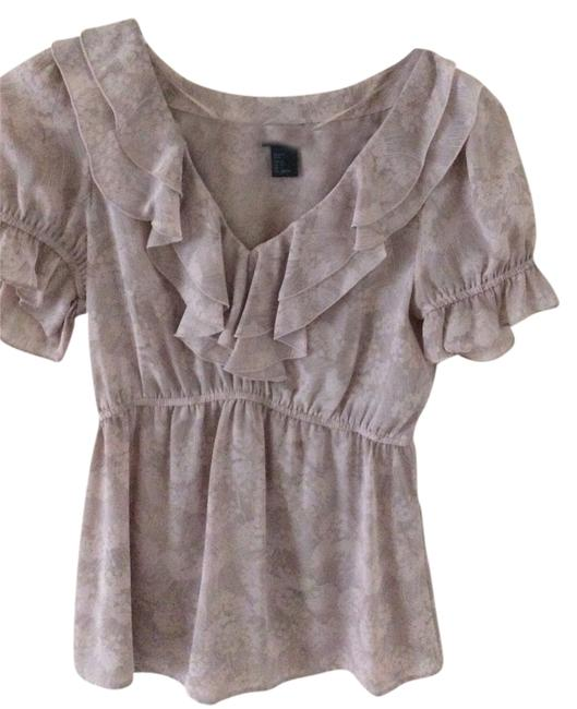 H&M Top Pink with grey lines
