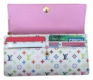 Louis Vuitton Louis Vuitton Sarah multi color wallet with pink
