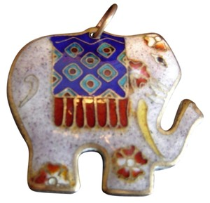 Other Cloisonne Indian Elephant Pendant