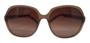 Karl Lagerfeld Karl Lagerfeld Hazelnut Brown and Gold Classic Sunglasses