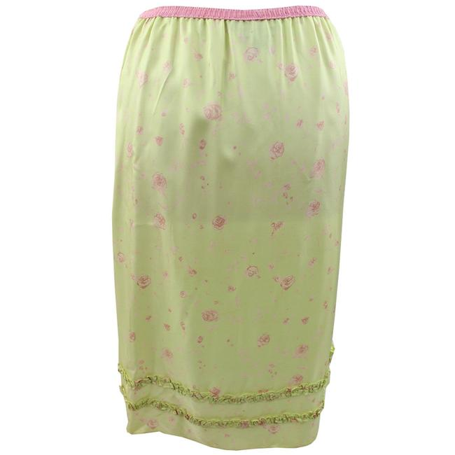 DKNY Skirt Lime Green and Pink
