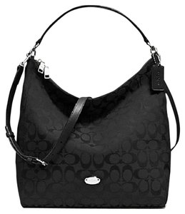 aefba2df02532 Coach Hobo Bag · Coach. 12cm Signature Celeste Convertible Black Fabric ...