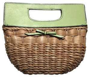 Liz Claiborne Satchel in Straw/ Green