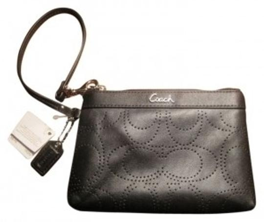 Preload https://item2.tradesy.com/images/coach-signature-perforated-black-leather-wristlet-31346-0-0.jpg?width=440&height=440