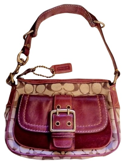 Preload https://item1.tradesy.com/images/coach-limited-edition-brown-and-wine-leather-and-fabric-shoulder-bag-3134665-0-0.jpg?width=440&height=440