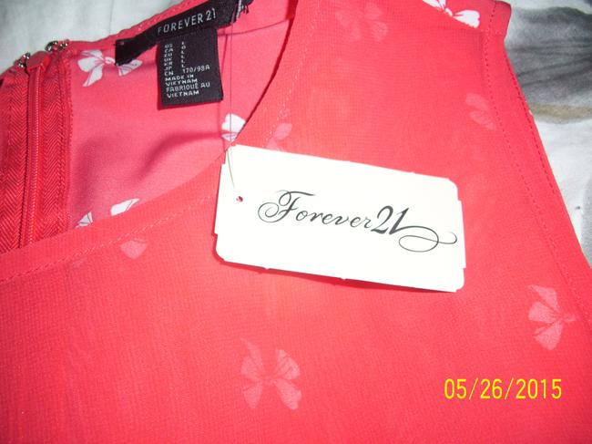 Forever 21 short dress Orange/white New on Tradesy