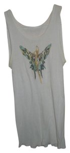 Butterfly Studded Wifebeater Top White