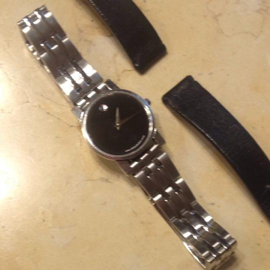 Movado Movado Museum Watch With Bracelet Band And Leather Band