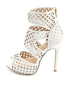 Charlotte Russe Cut-out Ankle White Sandals