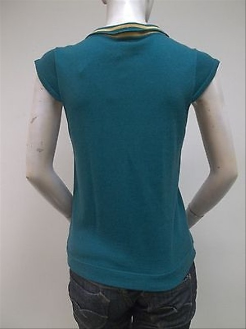 Tulle Teal Cap Sleeve Wrap S1182 Cotton Blend Sweater