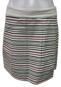 Tulle Stripe Mid Thigh Pleated C5291 Skirt Multi-Color