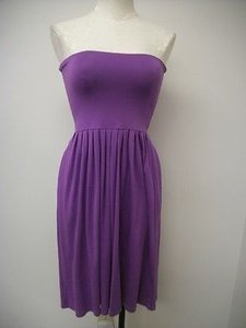 Nougat London short dress Purples Knit Strapless Ng7508 Freesia on Tradesy