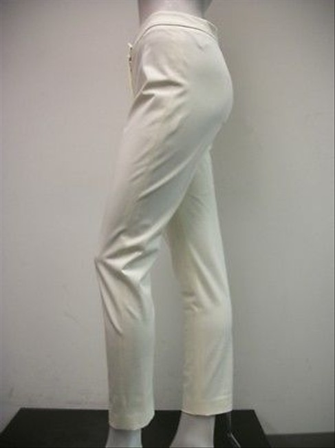 Other A Woman Skinny Style 0 Cotton Blend Capri/Cropped Pants Ivory