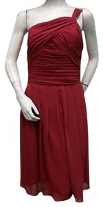 Watters short dress Burgundy One Pleated Chiffon 1524 on Tradesy