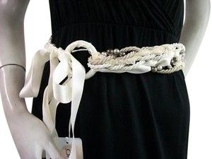 Other Luisa Cerano Twist Rope Lace Bead Ribbon Tie Belt Multicolor 858851962