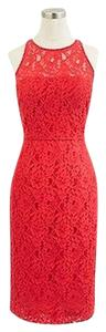 J.Crew Lace New With Tag Back Zip Keyhole Closure Partially Lined Petite Dress