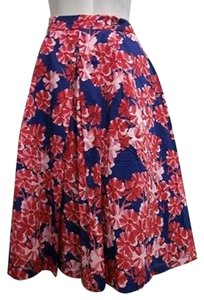 Aryeh Pleated Full Floral Print 4074 Skirt Multi-Color