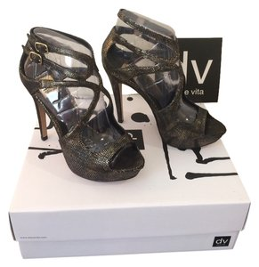 Dolce Vita Heel Brielle Heel Stiletto Dark Gold Snake Skin Formal