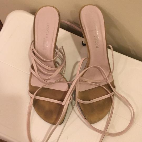 Kenneth Cole Lace Up Wrap Heels Pink Sandals