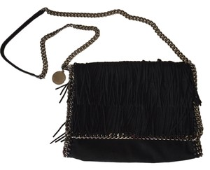 Stella McCartney Chain Fringe Falabella Faux Leather Suede Gunmetal Shoulder Bag
