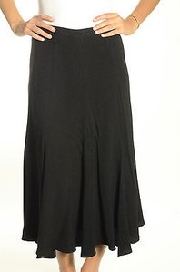 Drla Calf Length Side Skirt Black