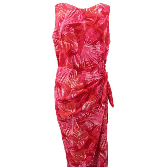 Multicolor Leaf Printed Maxi Dress by R&K Originals