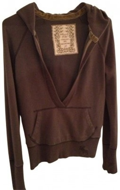 Preload https://img-static.tradesy.com/item/31407/abercrombie-and-fitch-brown-deep-v-neck-pull-over-sweatshirthoodie-size-12-l-0-0-650-650.jpg