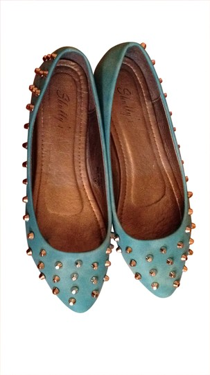 Preload https://item4.tradesy.com/images/shully-s-turquoise-studded-flats-size-us-9-31408-0-0.jpg?width=440&height=440
