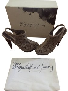 Elizabeth and James Taupe Pumps
