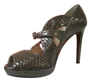 Claudia Ciuti Melody Taupe Cassius Lux Heels Snakeskin Beiges Pumps