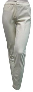 Other A Woman Skinny Capri Style Blend Capri/Cropped Pants Ivory