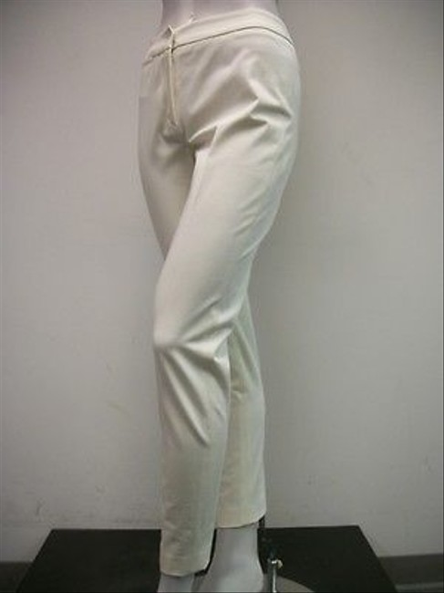 Other A Woman Skinny Style Cotton Blend Capri/Cropped Pants Ivory
