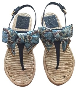 Tory Burch Navy Multi Sandals