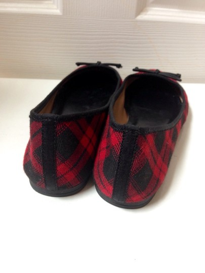 Talbots Black And Red Flats