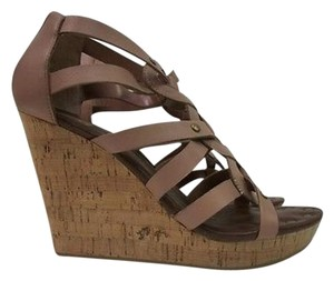 Dolce Vita Dv By Rose Leather Wedge Persimmon Platforms
