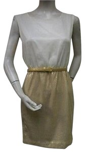 Ellison short dress Cream & Gold Sequined Skirt Scoop Neck Rd8119 on Tradesy