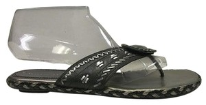 A. Marinelli A Leather Flipflop Black Sandals
